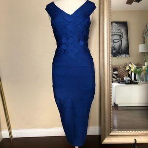 Tadashi Form fitting Blue dress